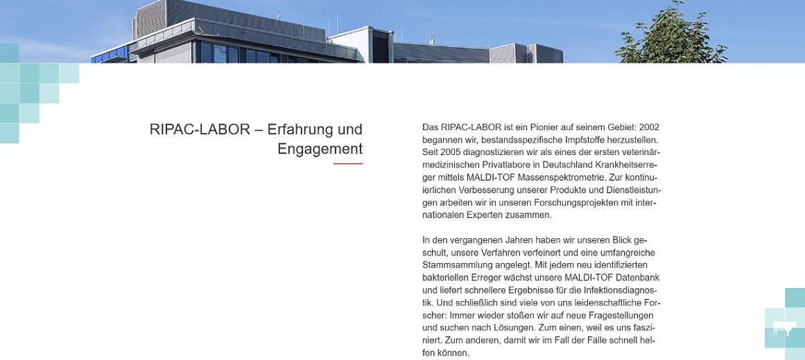 RIPAC-Labor Über uns